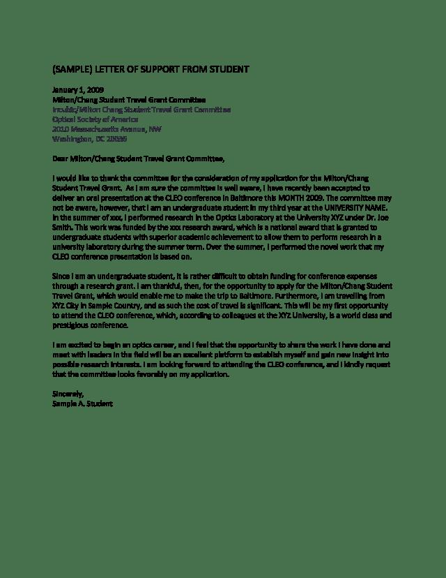 Student Grant Application Letter  Templates at allbusinesstemplates