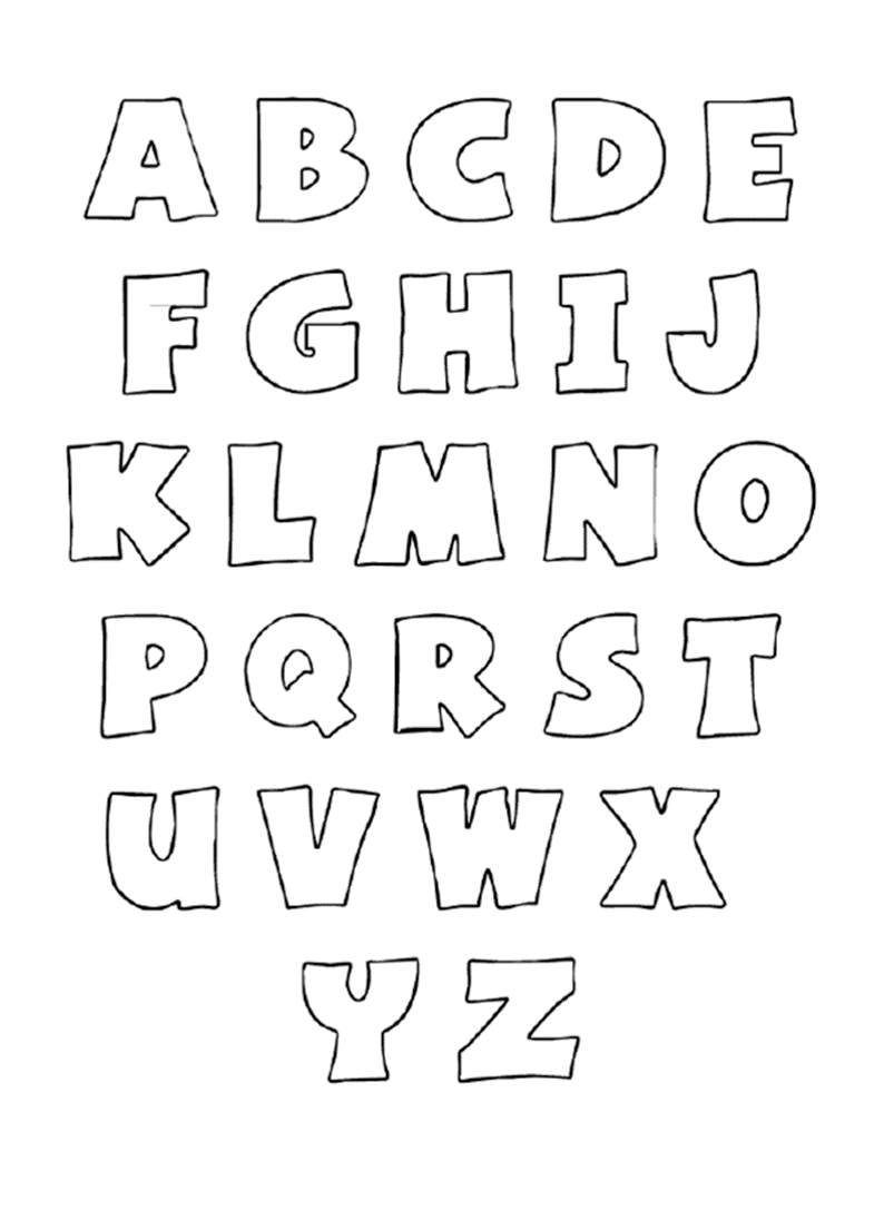 Printable Alphabet Bubble Letters