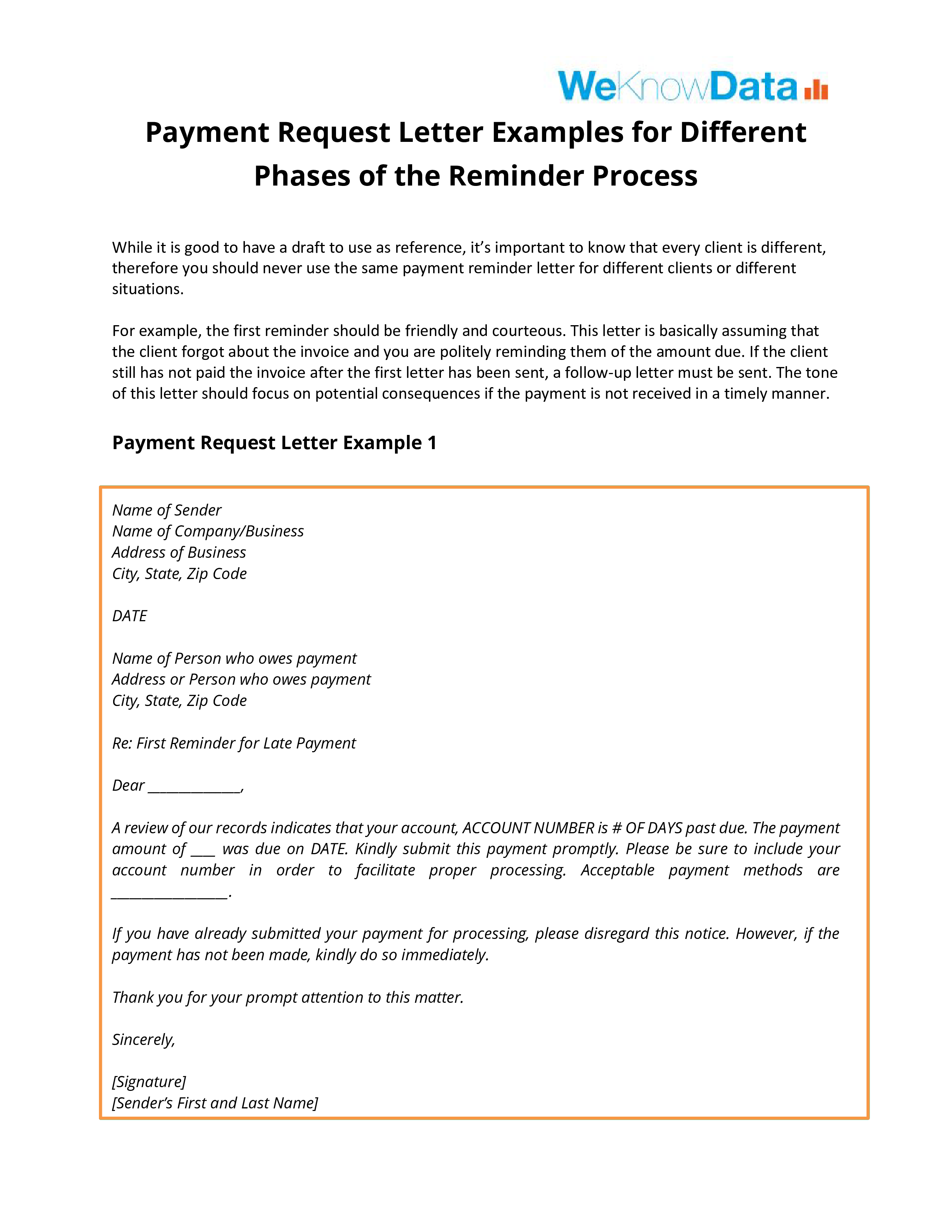 Formal Letter Format Request Payment