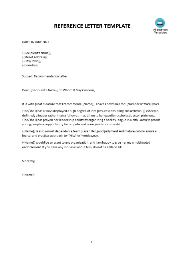 Sample character reference letter for a friend  Templates at