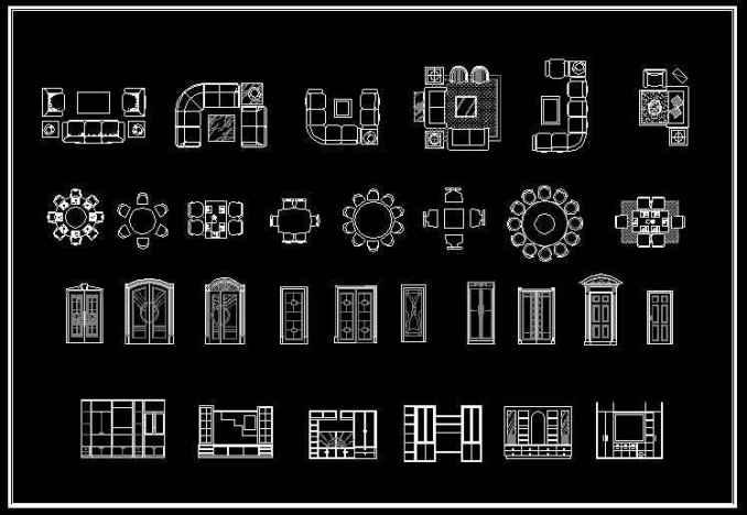 Interior Design 2d Blocks Free Cad Blocks Amp Drawings