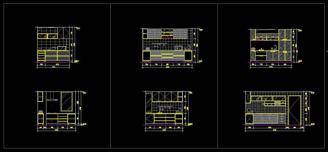 ☆【Kitchen Design Template】☆ Free Cad Blocks Drawings Extraordinary Autocad Kitchen Design Decoration