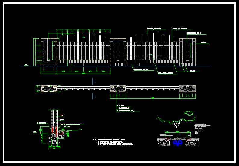 Wrought iron railing fence design】★ - Download AUTOCAD ...