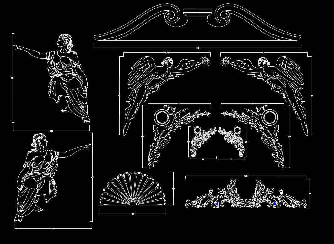 architectural elements decorative blocks autocad cad drawings architecture drawing ceiling classic interior building classical grc cadblocksdownload sketchup symbols amazing