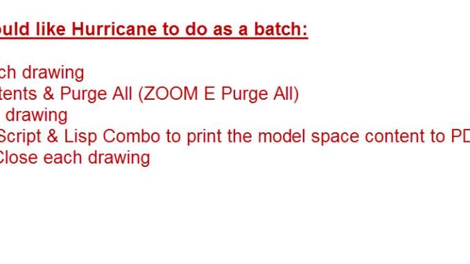 Hurricane Batch Processor Review – Free Autocad Blocks & Drawings
