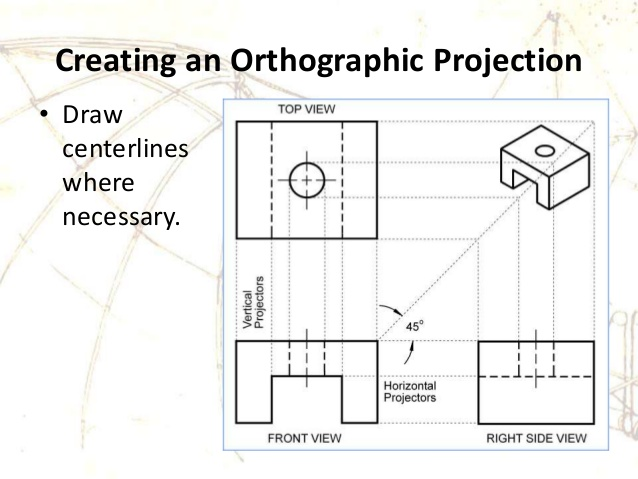 orthographic-projection-drawing-tutorial-orthographic-projection-in