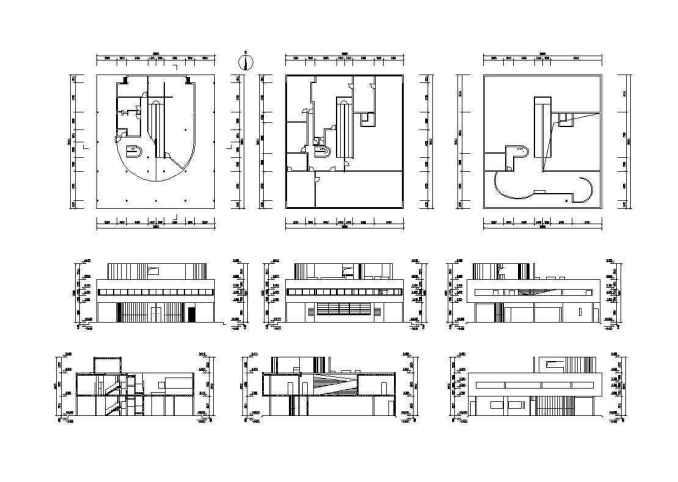 Villa Savoye Cad Drawings Le Corbusier Free Cad Blocks