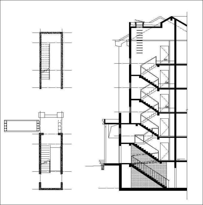 Free Stair Elevation Cad Drawing