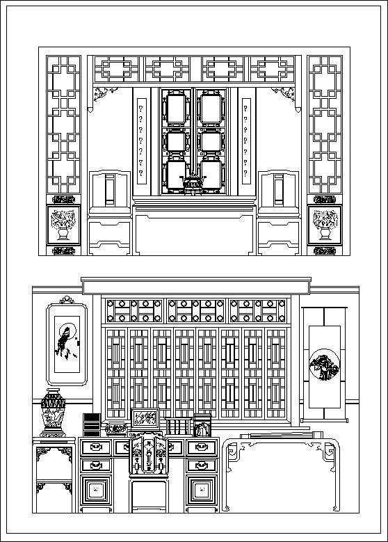 Chinese Decoration Elements Free Autocad Blocks