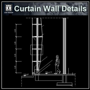 Curtain Wall Free Cad Blocks amp Drawings Download Center