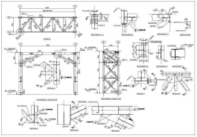 Steel Structure Details 3 Free Cad Blocks Amp Drawings