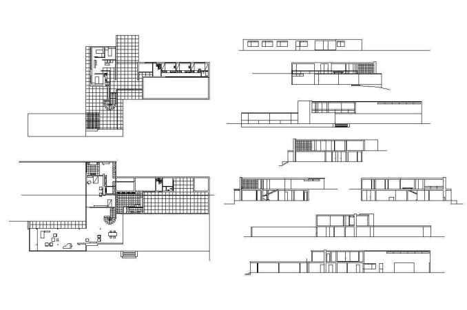Ludwig Mies van der Rohe – Farnsworth House – Free Autocad