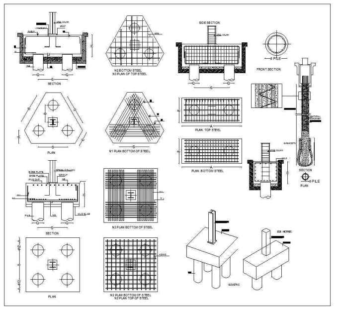 foundation details v2  u2013 download cad blocks drawings