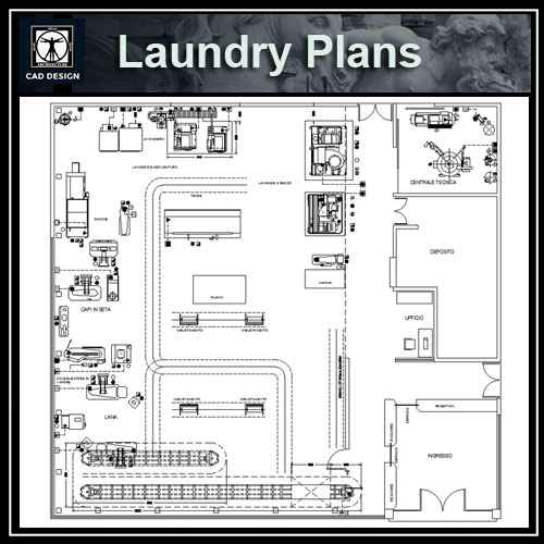 Laundry plan design free cad blocks drawings download for Laundry plan