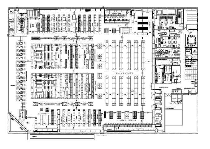 supermarket plan design free cad blocks amp drawings
