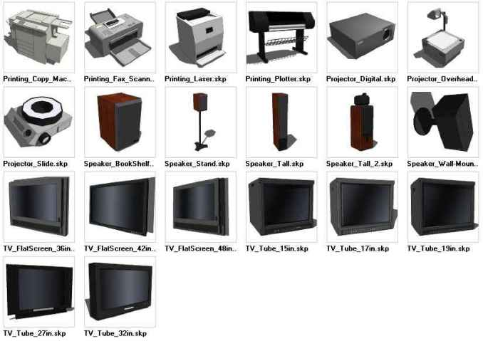 Sketchup Electronics 3D models download