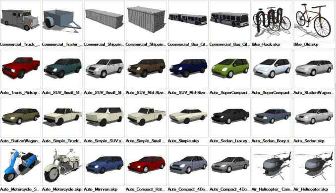 Sketchup Transportation 3d Models Download Free Cad