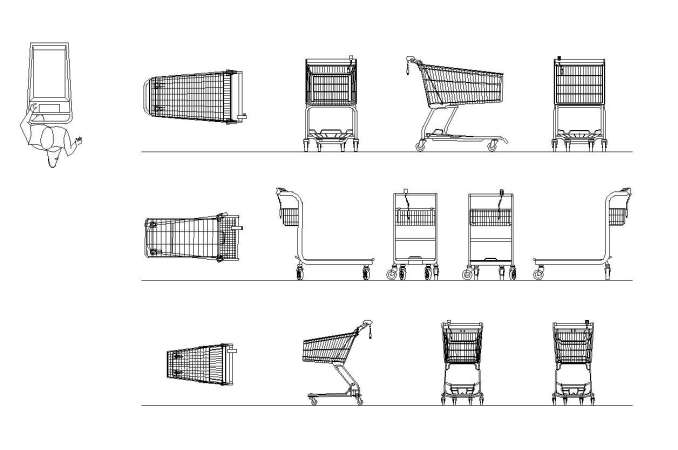 Free Shopping Cart Blocks Free Cad Blocks Amp Drawings