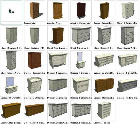 Sketchup Dressers 3D models download