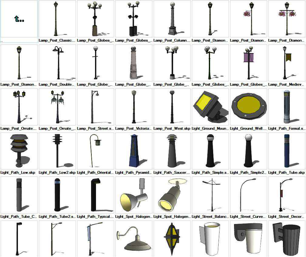 Sketchup Lighting Exterior 3d Models Download Free Autocad Blocks Drawings Download Center