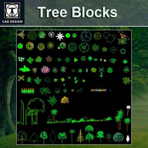 Free Tree Blocks Tree Color Blocks Free Autocad Blocks Drawings