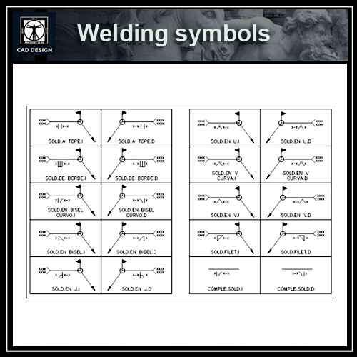 Free Symbol Blocks Welding Symbols Free Autocad Blocks
