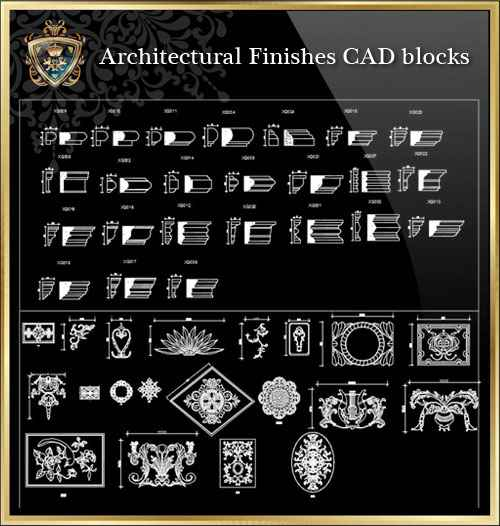 Architectural Finishes CAD blocks