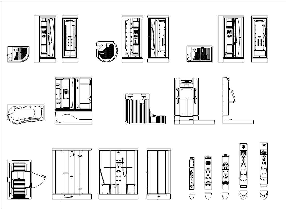 Bathroom Blocks-Shower - Free Autocad Blocks & Drawings ...