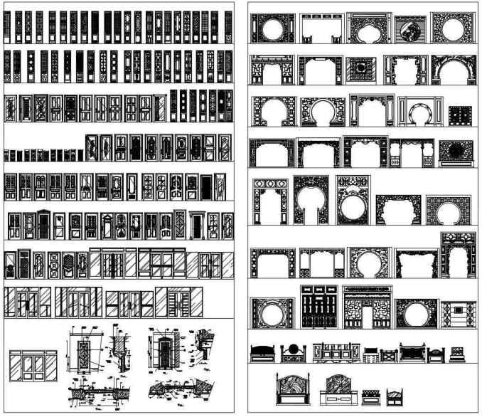 Wood Pattern Elevation : 【 best interior design cad details 】 recommand