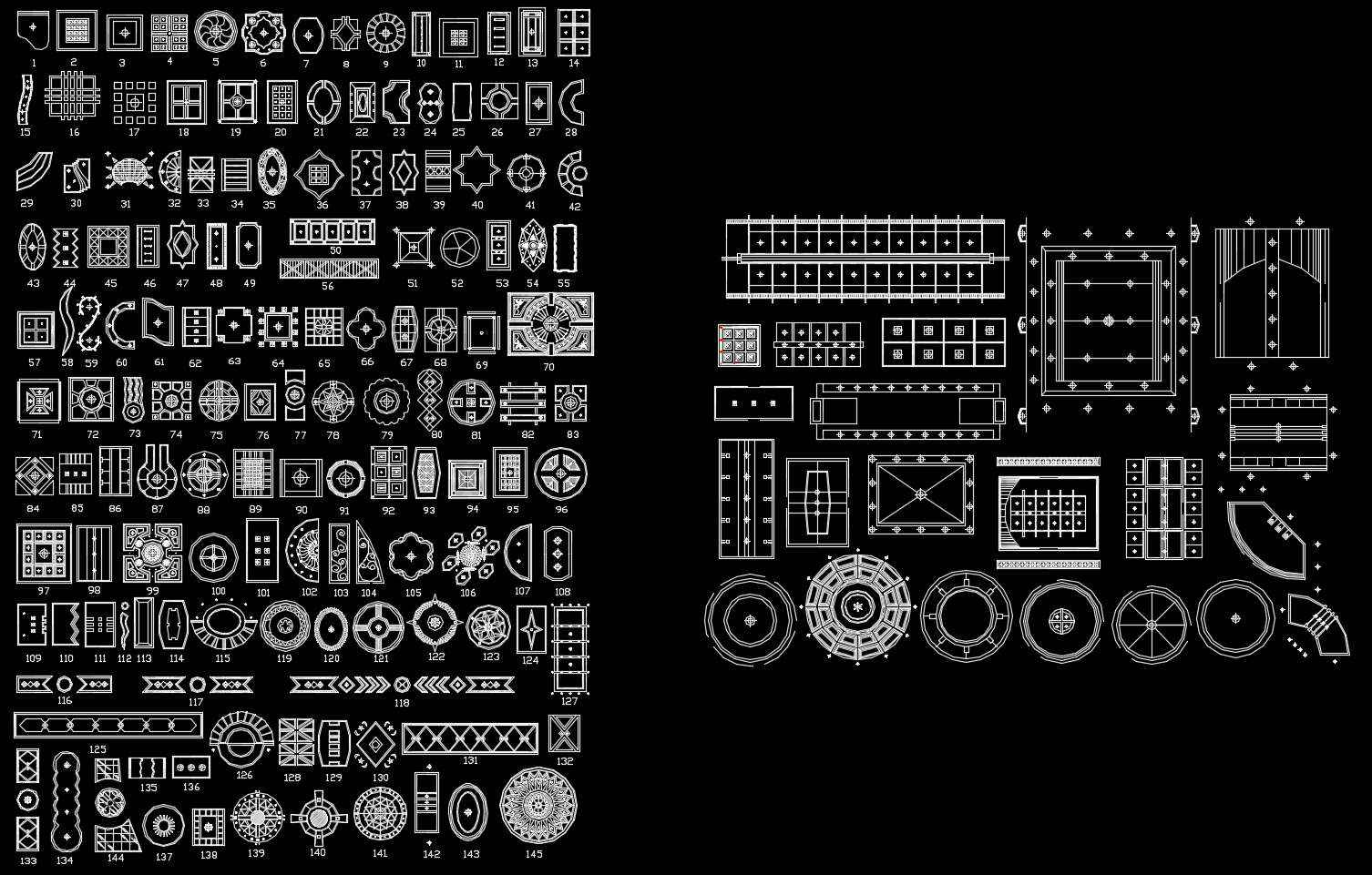 500 Types of Ceiling Design CAD Blocks - Free Autocad ...