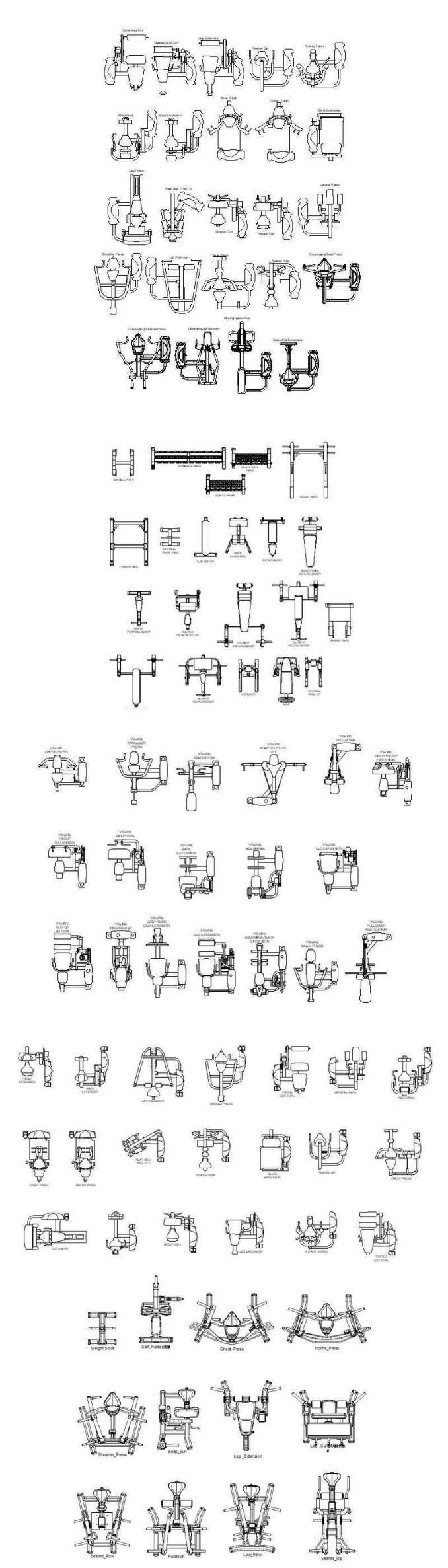 ★【All Gym,Fitness equipment CAD Blocks Bundle-Stadium,Gymnasium,  playground, sports hall V 2】@Gem CAD Blocks,Autocad Blocks,Drawings,CAD  Details