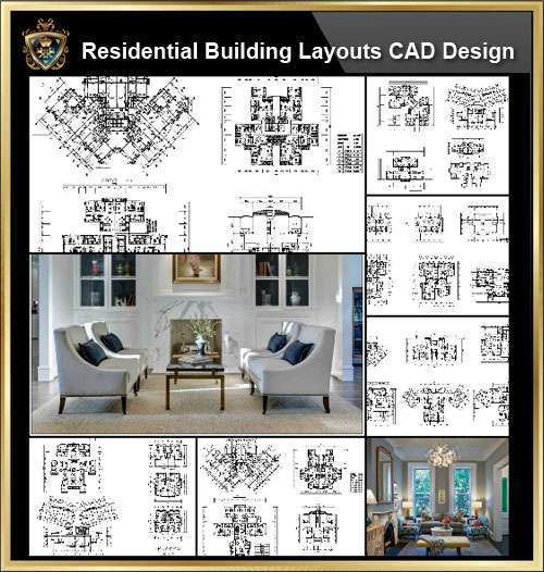 ★【Over 58+ Residential Building Plan,Architecture Layout,Building Plan Design CAD Design,Details Collection】@Autocad Blocks,Drawings,CAD Details,Elevation