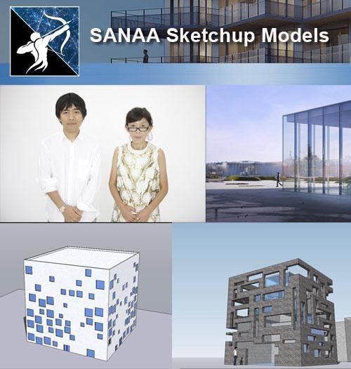 Download 3 Projects of SANAA-Kazuyo Sejima+Ryue Nishizawa Architecture  Sketchup 3D Models(* skp file format)