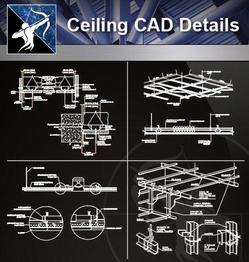 【Architecture CAD Details Collections】Ceiling Design CAD Details V.1