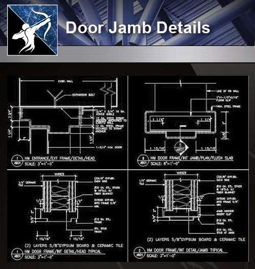 Dwg Door Frame & Pin It Door Frame Details