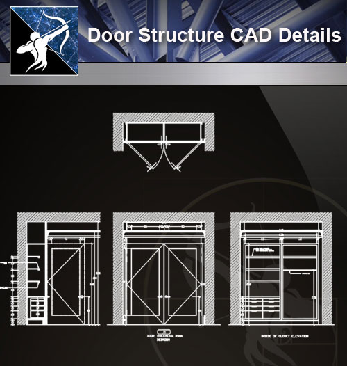 【Architecture CAD Details Collections】Door Structure CAD Details