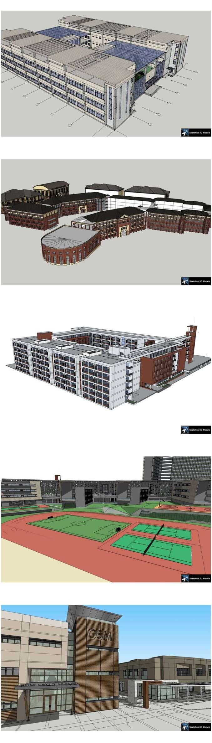 ★【Sketchup 3D Models】20 Types of School Sketchup 3D Models V 6