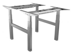 Allcam edf04qw back-to-back electric sit-stand desk frame silver white