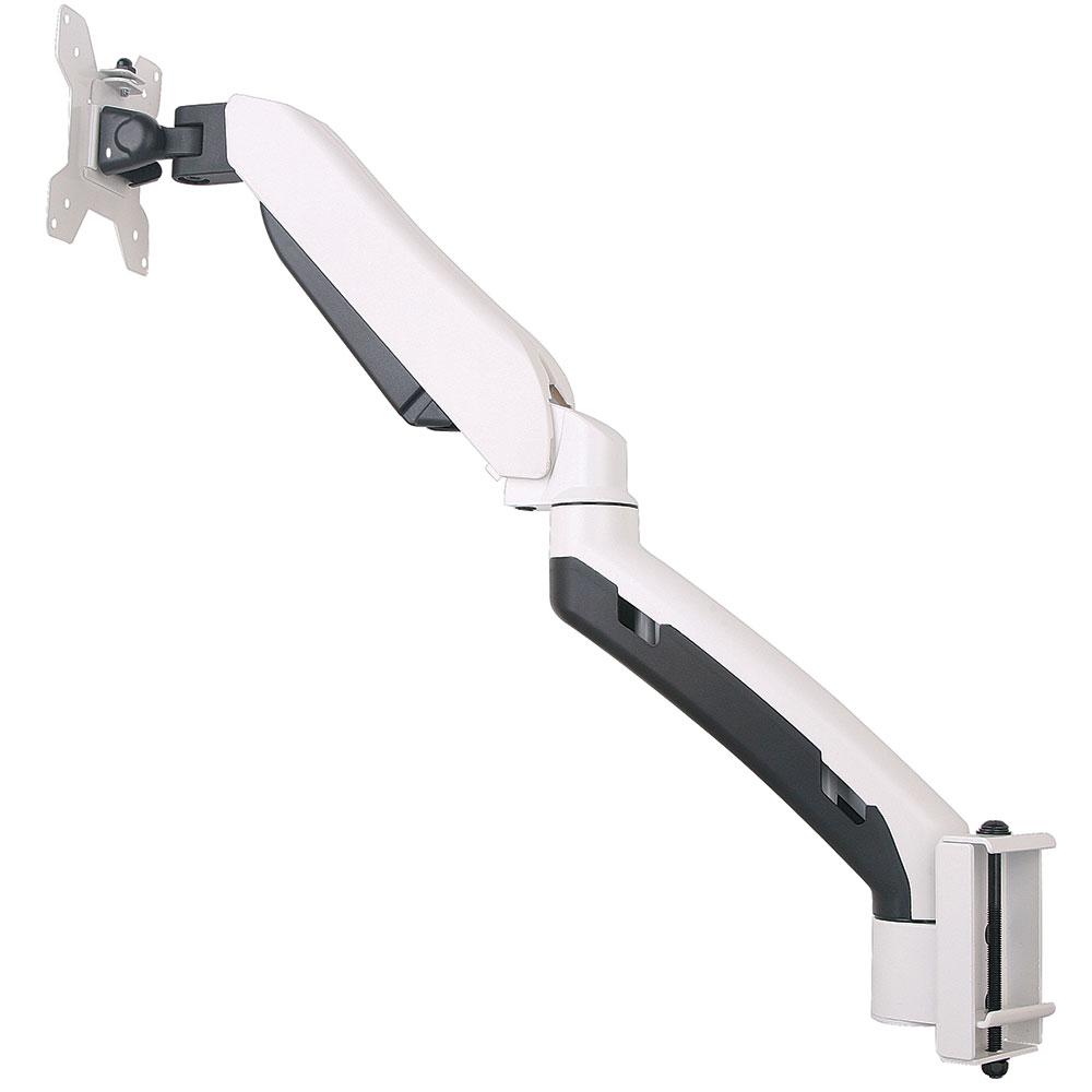 GSA21-TBM Gas spring single LCD monitor arm with Toolbar mount