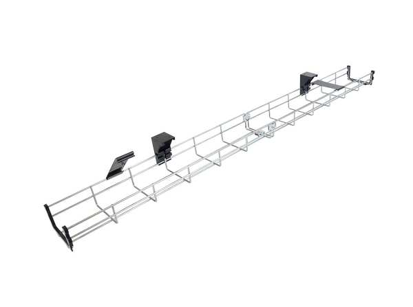 CT40+MT 0.4-meter Under-desk Galvanized Steel Mesh Cable Tray W10 x H5 cm