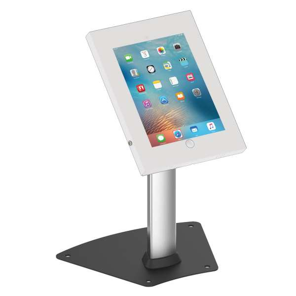 Brateck PAD1204A anti-theft iPad Kiosk / Table Stand White