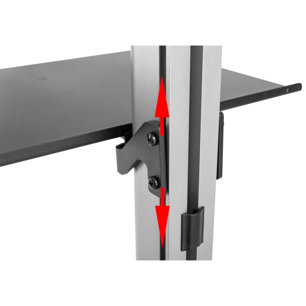 fcm63m floor ceiling tv mount stand shelf