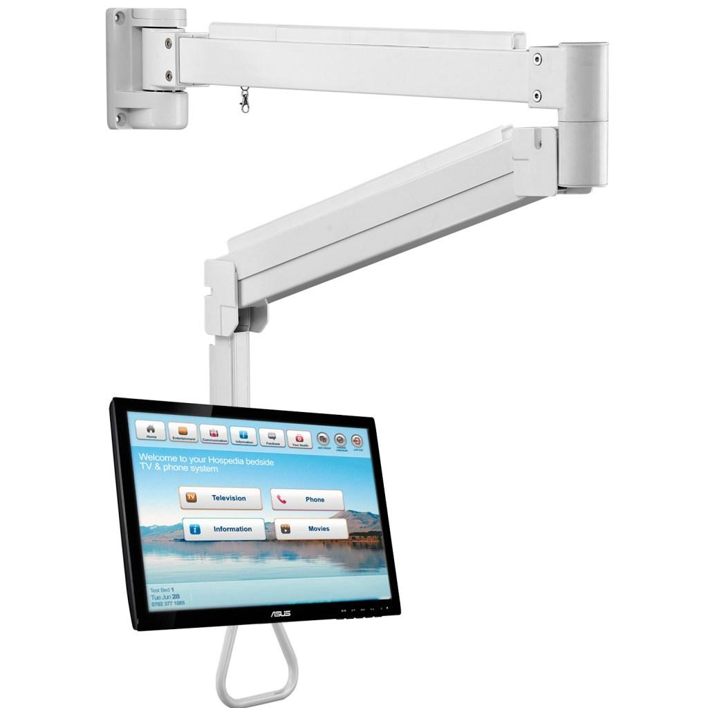 Allcam LRA34W long reach LCD screen arm White