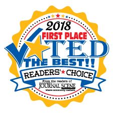Journal Scene's reader's choice logo for winning first place in-home care agency