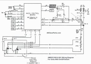 AMSCO 900 Wiring Diagram (WITH ONOFF SWITCH)