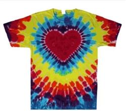 Heart Tie Dye T Shirt Heart Shape Tie Dye T Shirt Not