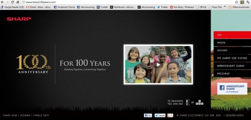 Sharp 100 year anniversary