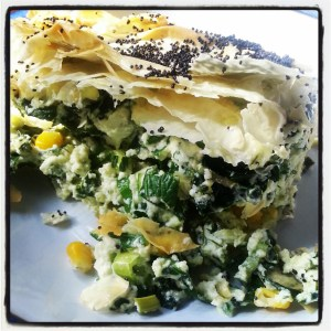 spinach and ricotta pie