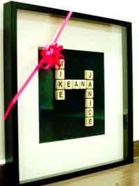 Homemade Scrabble Tiles Names Art Tutorial
