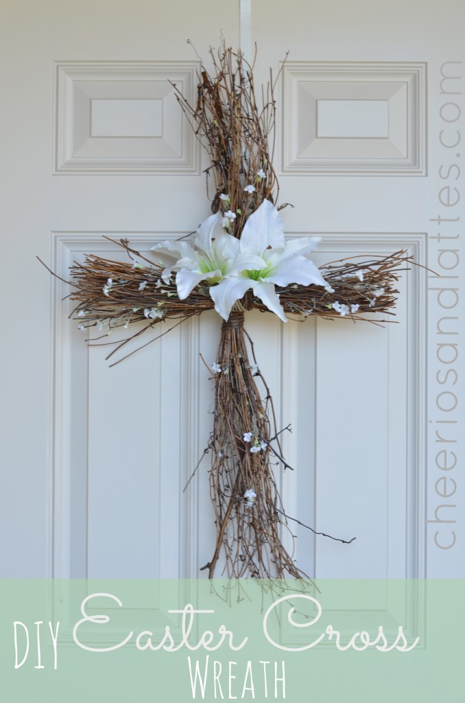 Cross Door Wreath DIY For Easter All Created
